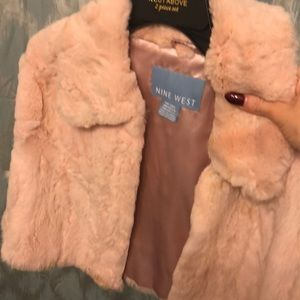 Nine West rabbit fur stole